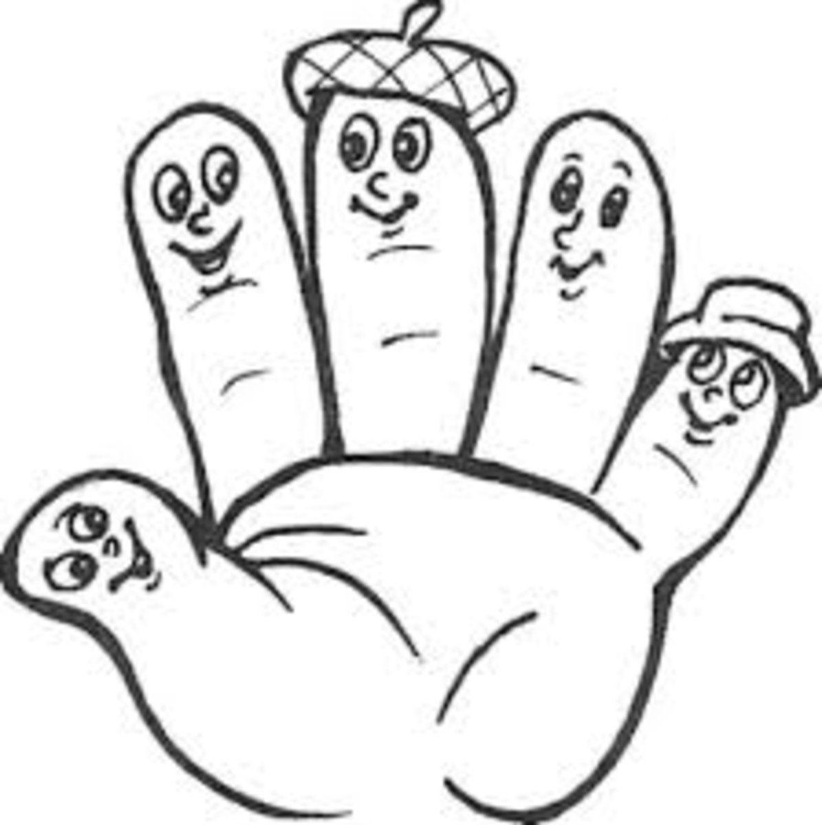 Раскраски для детей пальцем